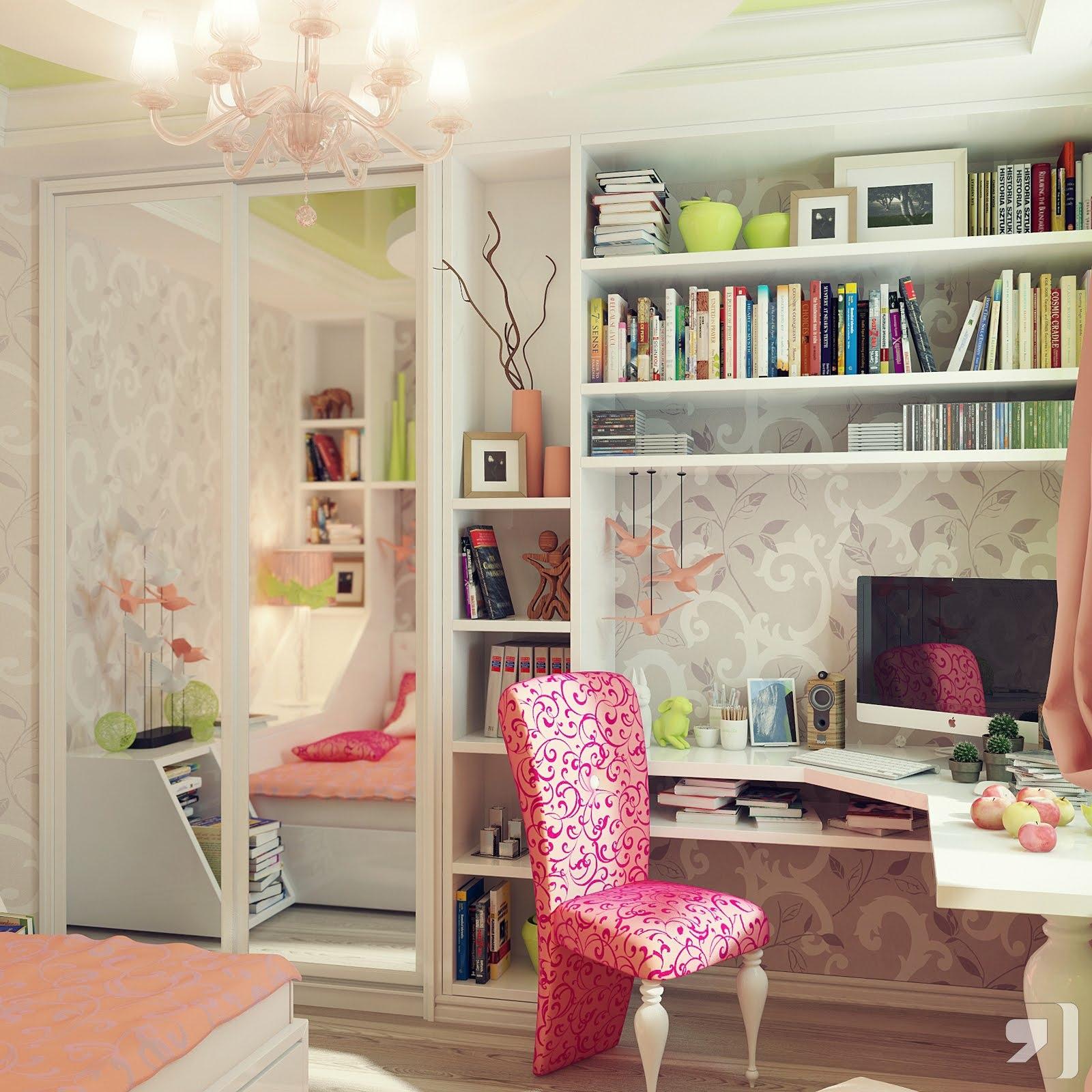 Интерьеры для девичьей комнаты